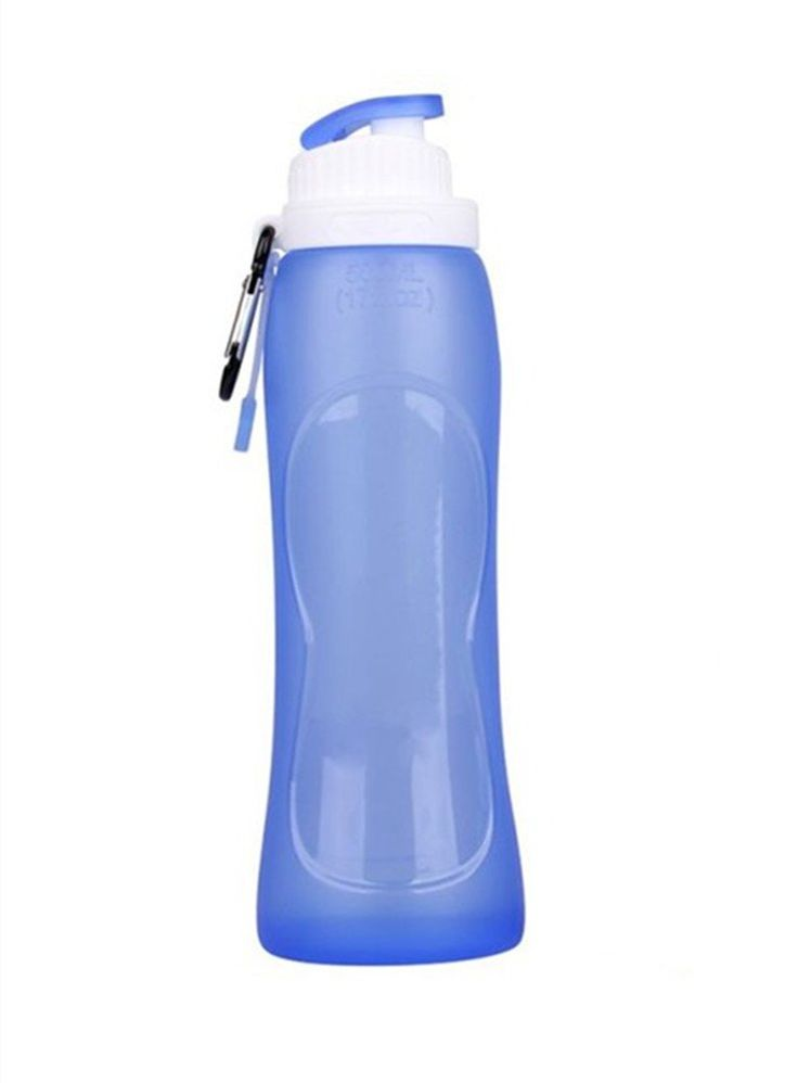 Collapsible Water Bottle, PYRUS Travel Accessories Bottles Leak Proof for Sports Camping Hiking Cycling(Blue). This collapsible water bottle is made from food grade silicone which is free of harmful materials. This leak proof water bottle can be rolled up/folded when it is empty. The bonus clip-on carabiner allows the bottle to be secured to any backpack, bag, duffel bag or even your belt. The pop-up lid is suitable for one-handed usage and allows drinking on the move like cycling and...