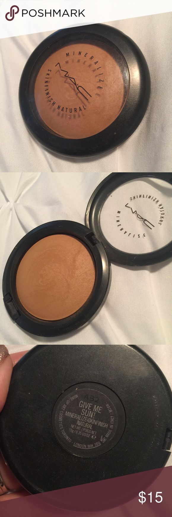 MAC Give me sun MAC Give me sun bronzer. Only swatched. MAC Cosmetics Makeup Bronzer
