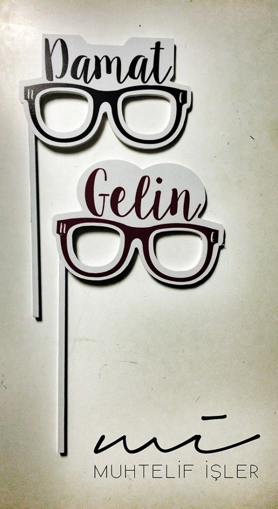 Gelin ve Damat Gözlükleri