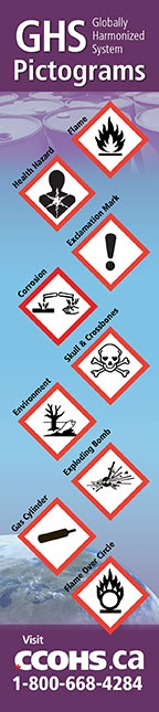 Know at-a-glance the hazards identified by the GHS pictograms, with this handy bookmark from CCOHS. Only $1.25