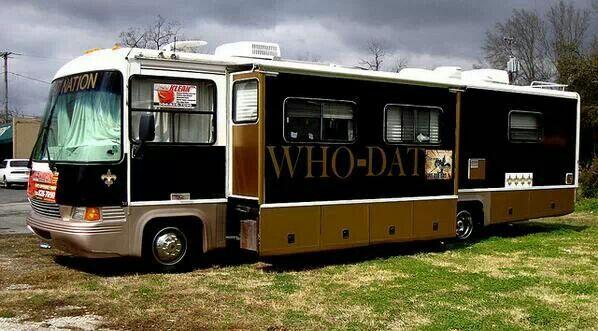 New Orleans Saints RV CAMPER
