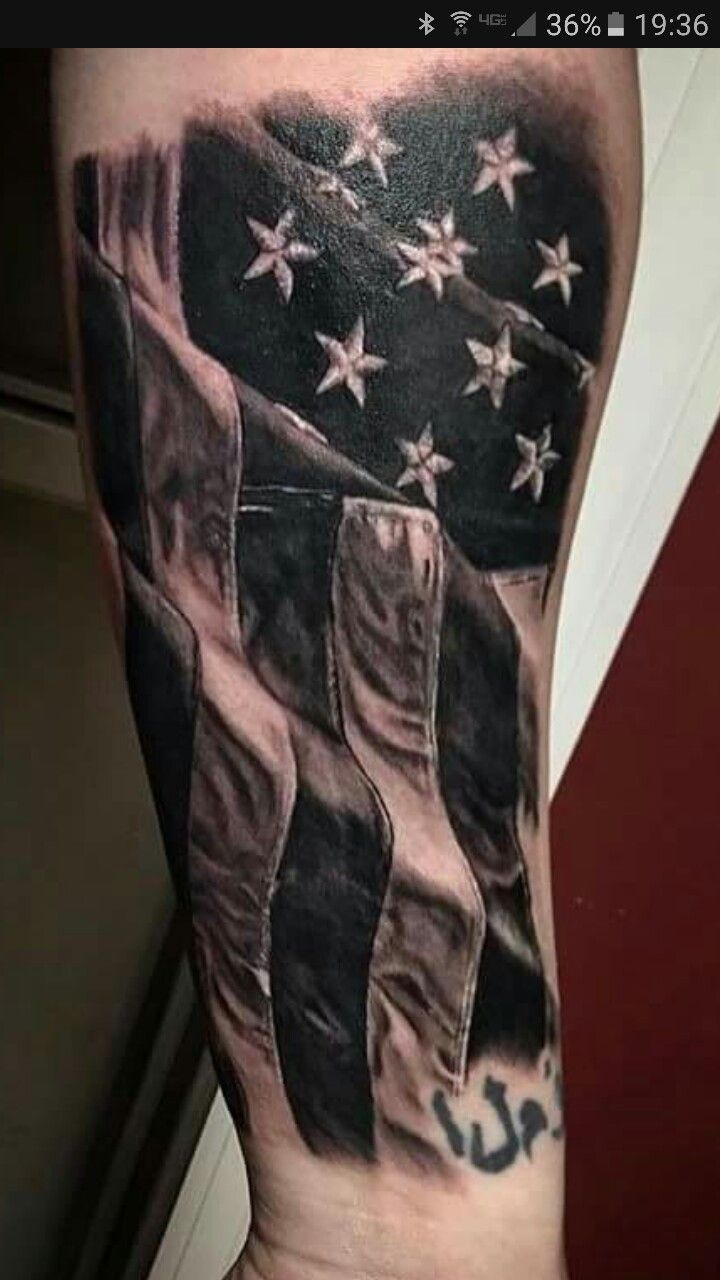 two flags tattoo