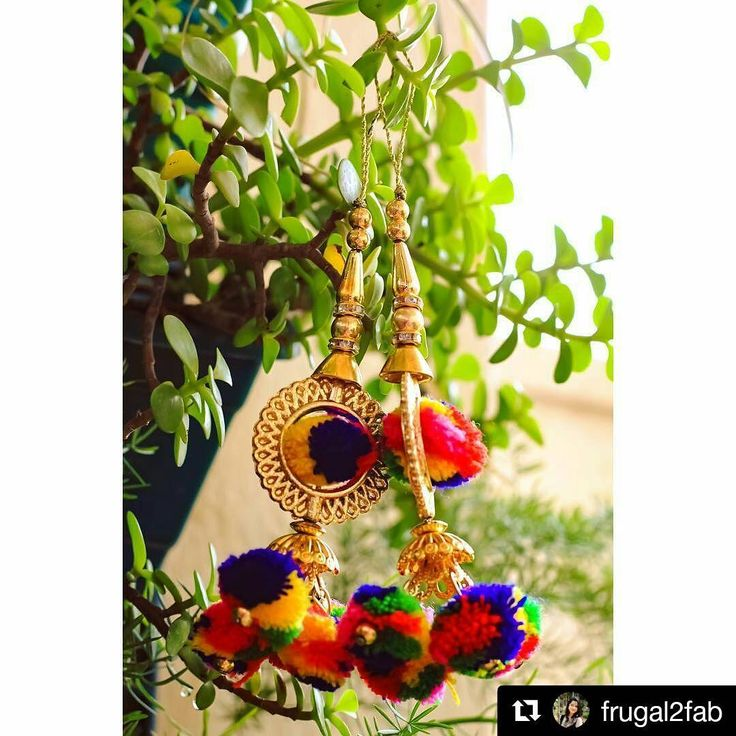 #Repost @frugal2fab ・・・ Pom pom madness all day today. How cute are these colourful pom-pom latkans.⠀ You can buy them from @urbangota ⠀ .⠀ .⠀ .⠀ #latkans #pompom #colourful #hangings #outdoor #photography #urbangota #saree #bride #bridetobe #bridal #love #beautiful #accessories #trinklets #weddingblog #frugal2fab #instalove #instalike #followme #accessory #jewellery #fashion #bridalfashion #cute #yarn #style #trending http://gelinshop.com/ipost/1517381252365141976/?code=BUO0jWoD8fY