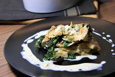Zapečené kuře s tuřínem a špenátem /Baked chicken with turnip and spinach/ Zdravé, nízkosacharidové, bezlepkové recepty. (Healthy, low carb, gluten free recipes.)