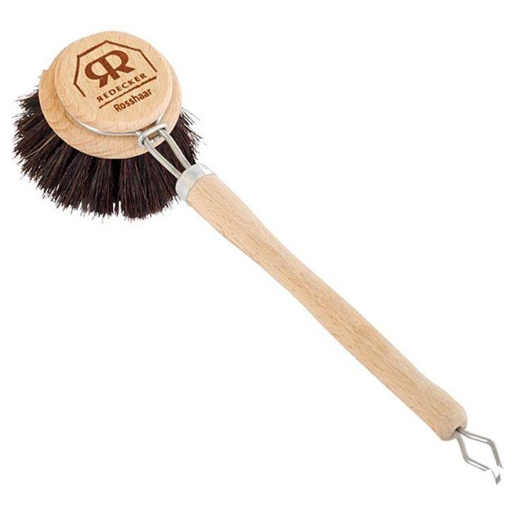 Redecker black wooden dish brush #worthynzhomeware wwworthy.co.nz $9.90