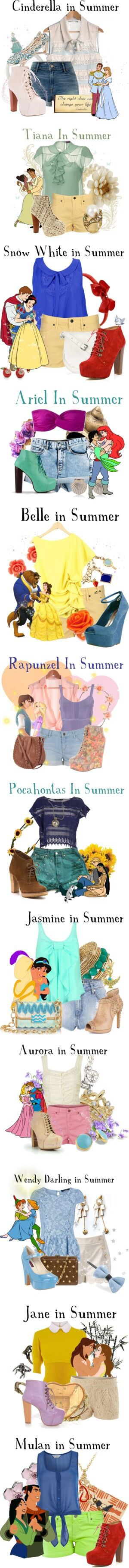 Disney princesses on summer attire.. ❤️