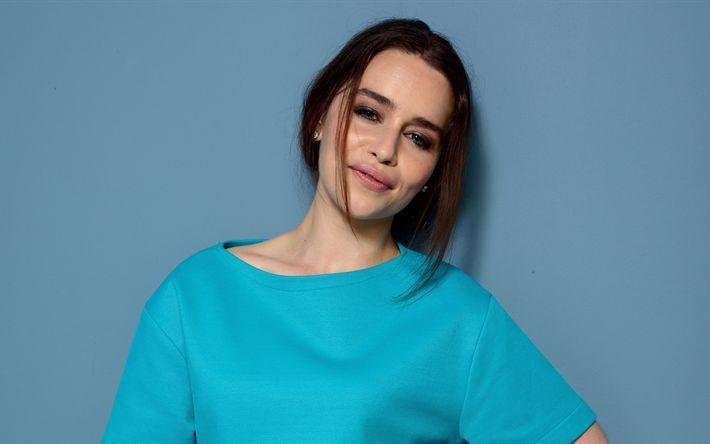 Descargar fondos de pantalla Emilia Clarke, 4K, 2017, Hollywood, la belleza, la actriz británica