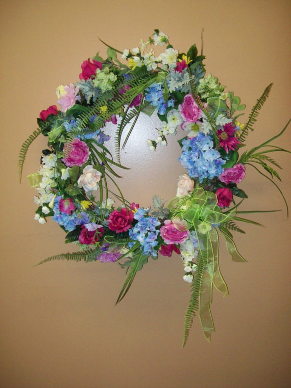 Victorian Romance wreath by CreativeFlorists on Etsy, $95.00 -