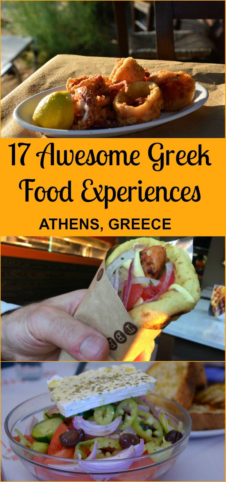 Here are 17 awesome Greek foodie experiences you can have when you visit Athens, Greece!