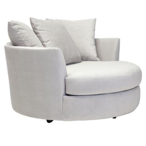 Cuddler Chair From Z Gallerie In Bella Gray Microfiber