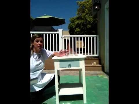 Annie Sloan Chalk Paint Tutorial Step 2- Distressing - YouTube