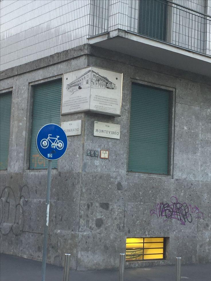 The historic site of Carrozeria Castagna in via Montevideo, Milan
