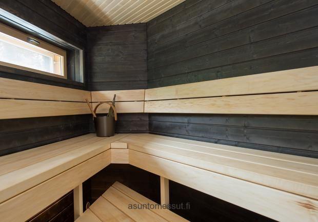 Passiivikivitalo Mutteri - Sauna | Asuntomessut