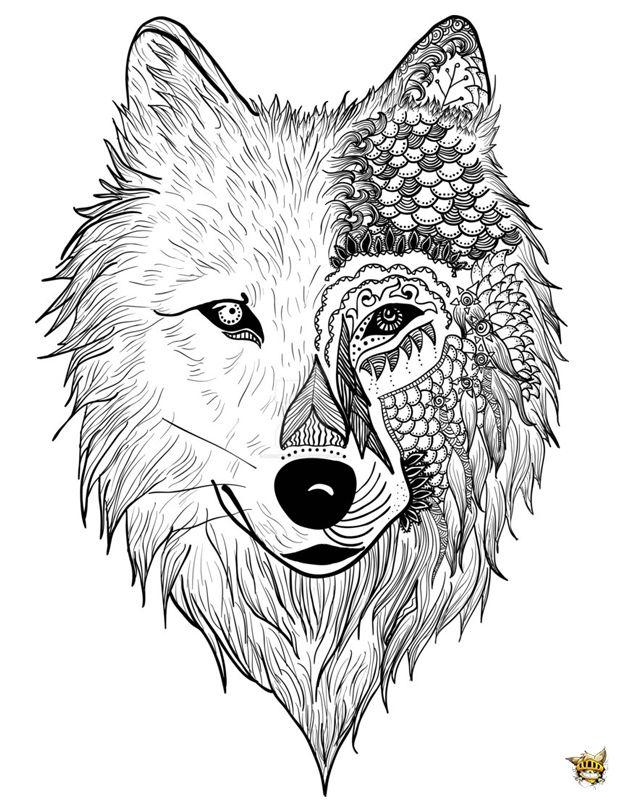 Les 23 meilleures images du tableau zen sur pinterest - Coloriages loup ...
