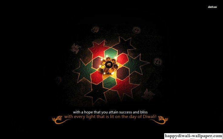 Diwali 3D Wallpaper with quote