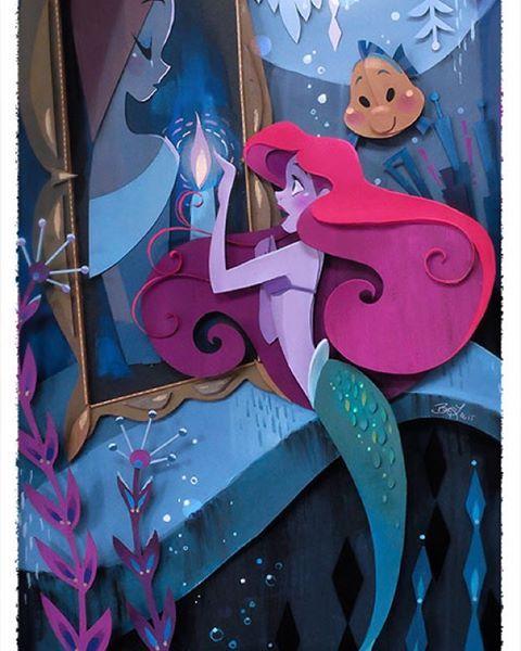 Ariel in cut paper- amazing