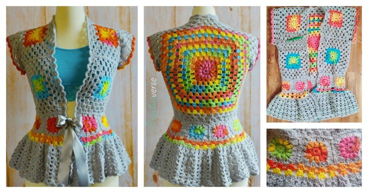 What a beautiful crochet jacket! If you have never crocheted jacket, this Crochet Garden Party Jacket Free Pattern is a great one to start with.