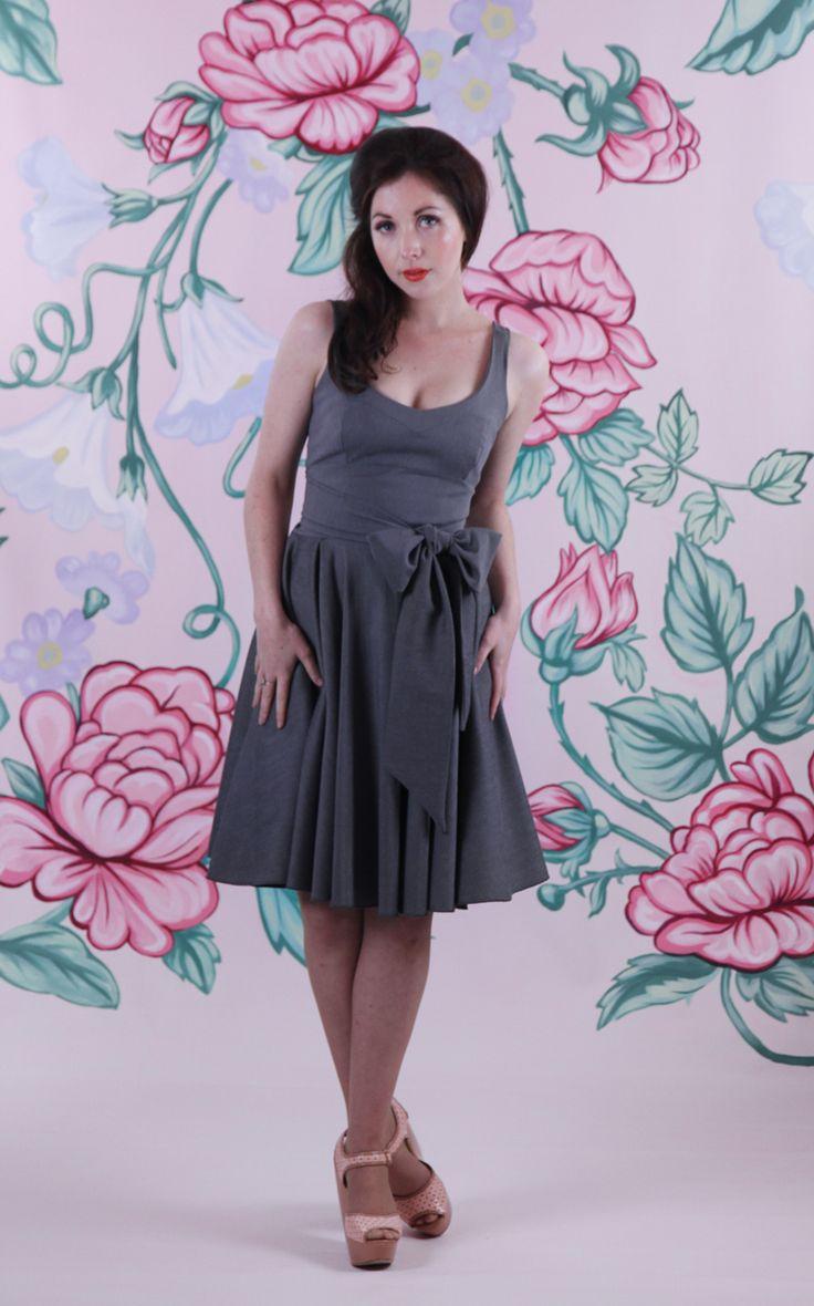 Harriett Falvey - Swan Dress - Grey