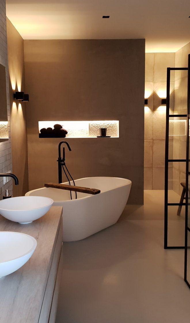 Modernes Badezimmer – Badkamer – #Badezimmer #Ba…