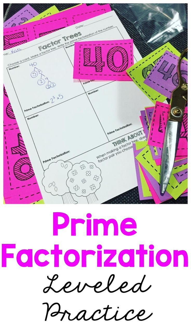 Prime Factorization Leveled Practice
