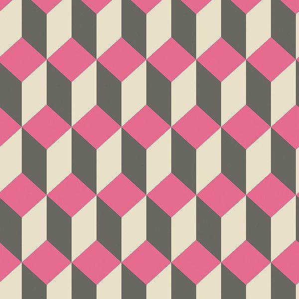Cole & Son Delano Wallpaper - Pink & Black - 105/7033 (6.065 RUB) ❤ liked on Polyvore featuring home, home decor, wallpaper, grey, grey pattern wallpaper, inspirational wallpapers, black pattern wallpaper, black grey wallpaper and black geometric wallpaper