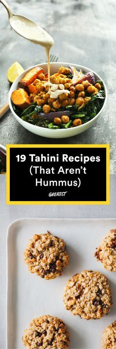 It's not just for dipping. #healthy #tahini #recipes http://greatist.com/eat/tahini-recipes-that-go-beyond-hummus