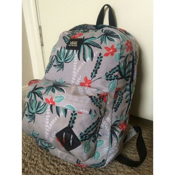Selling this Floral Gray Teal and Orange VANS Bookbag in my Poshmark closet! My username is: dejadenice. #shopmycloset #poshmark #fashion #shopping #style #forsale #Vans #Handbags