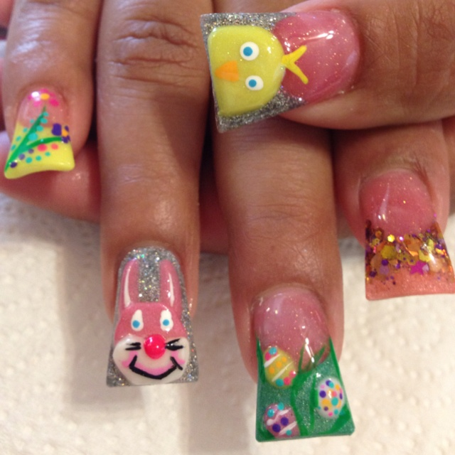 Easter 3D Acrylic Nails | My Style | Pinterest | 3d ...