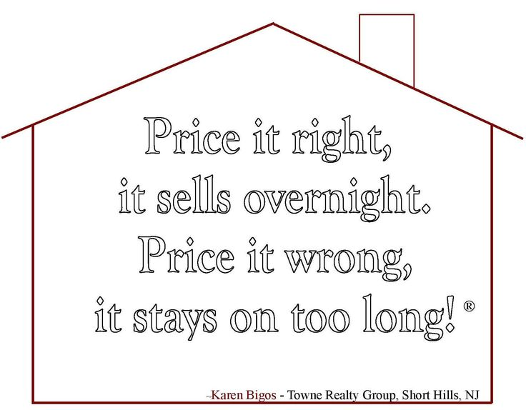 All Realtors now if you price it right, it sells faster and usually higher too.