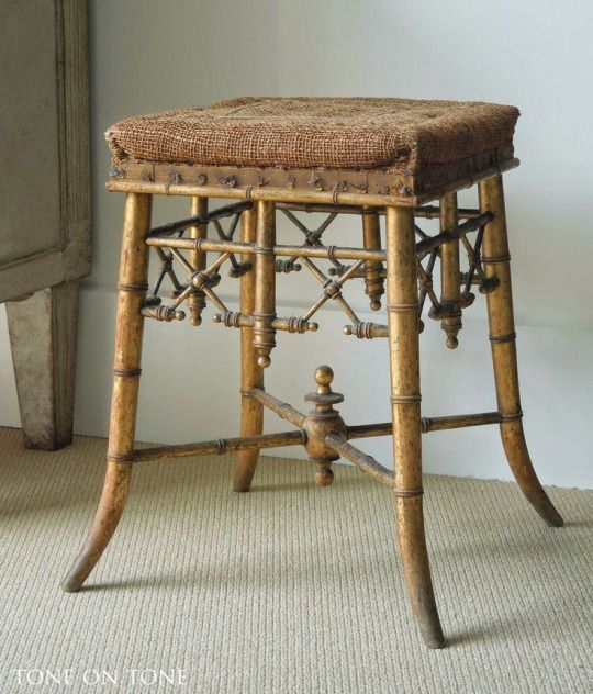 A fabulous Napoleon III Chinoiserie gilded faux bamboo stool - 44 Best Bamboo Furniture Images On Pinterest Bamboo Furniture