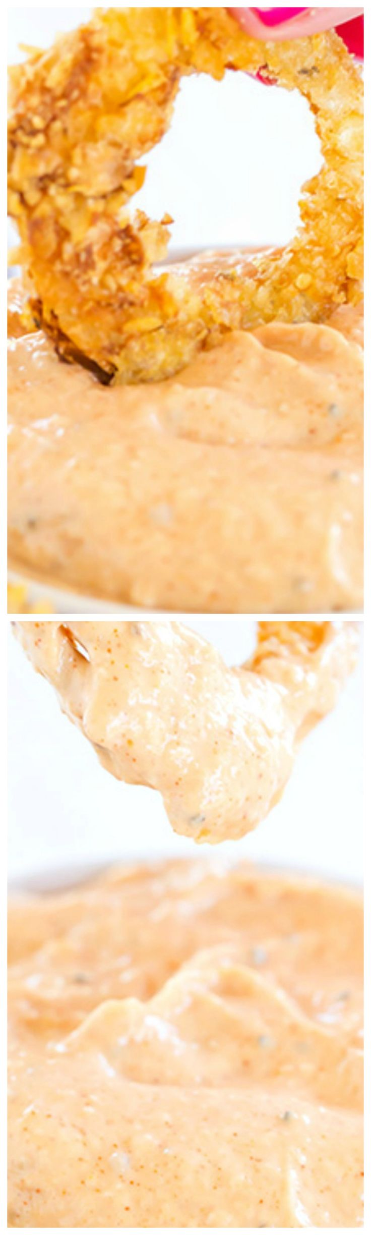 Copycat Bloomin' Onion Dipping Sauce ~ This dipping sauce tastes exactly like the one you'll find at Outback Steakhouse and is perfect for your favorite onion rings!