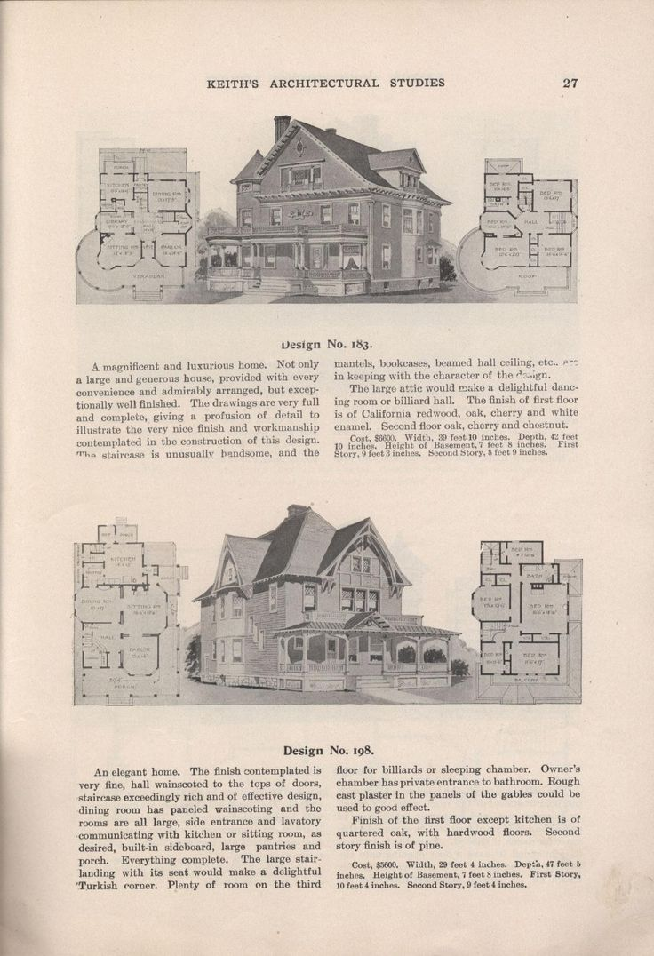 333 best old home plans images on pinterest vintage houses keith s architectural studies no 8 victorian homesfloor planshouse