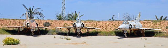 Retired IAF IAI Kfir C7s at Hatserim Air Base Revetment | Flickr - Photo Sharing!