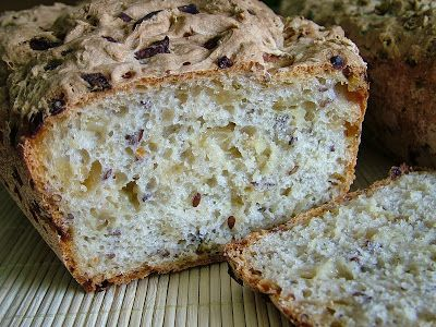 Smak Zdrowia: Chleb cebulowy z siemieniem lnianym