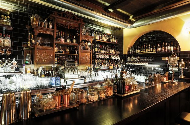 Then there's the beautifully adorned Hemingway Bar in Prague, Czech Republic: