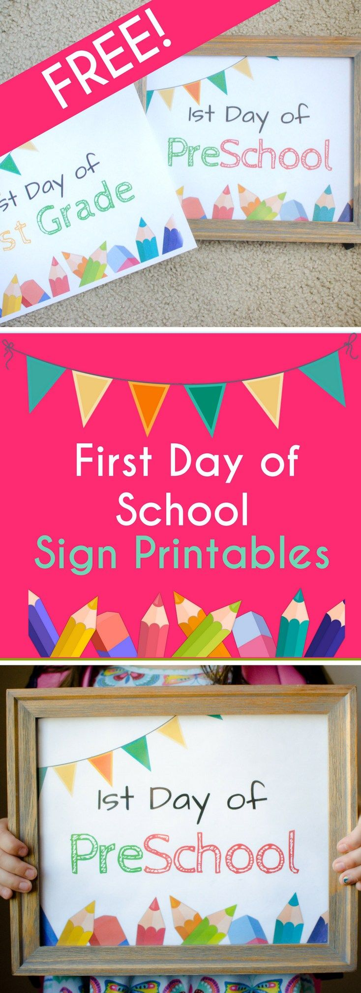 "The first day of school is a great time to create milestones and memories. First day of school activities can include a special breakfast, new morning routines and the ever famous ""first day of school"" photo. Why not make this activity fun by printing and framing these First Day of School[Read more]"