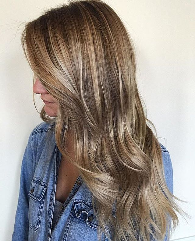 Beige balayage. Color by @prettylittleombre  #hair #hairenvy #haircolor…