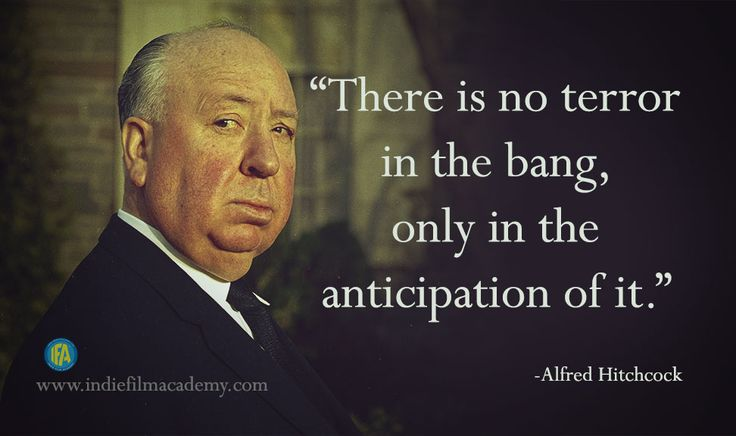 Alfred Hitchcock Quotes.  http://www.indiefilmacademy.com