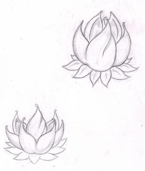 lotus tattoo with fire within