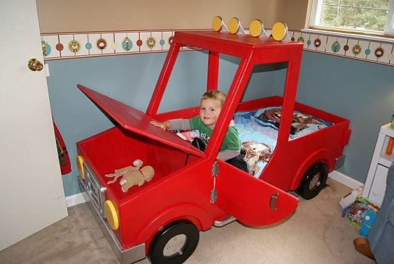 Boys Toddler Truck Bed By Rockinrides On Etsy Decorating