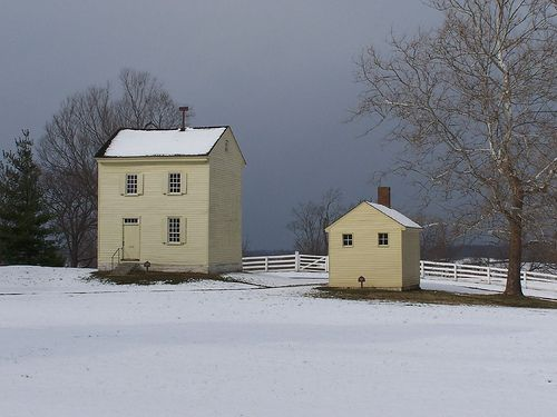 Shaker Village at Pleasant Hill in Kentucky.  I love these two structures.