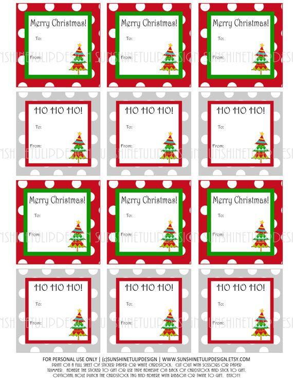 polka dot merry christmas labels for your christmas gifties diy