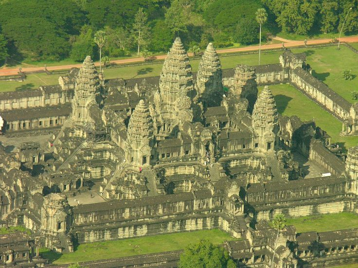Angkor Wat right side from the air