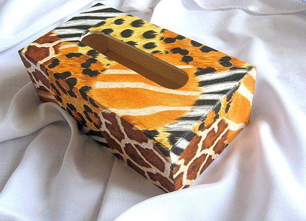 Design piele de tigru, design avangardist cutie servetele hartie