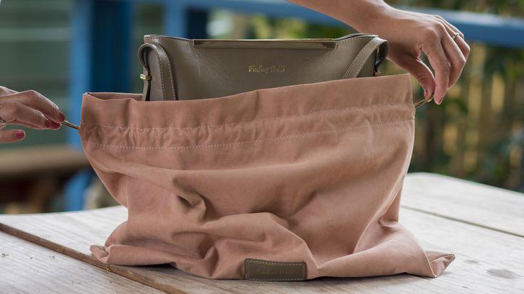 Luxury Faux suede dust bag