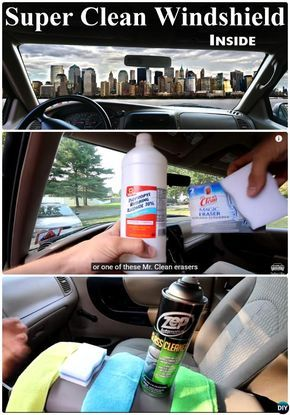 tips to clean windshield inside 20 car cleaning detailing tips and tricks cleaning pinterest. Black Bedroom Furniture Sets. Home Design Ideas