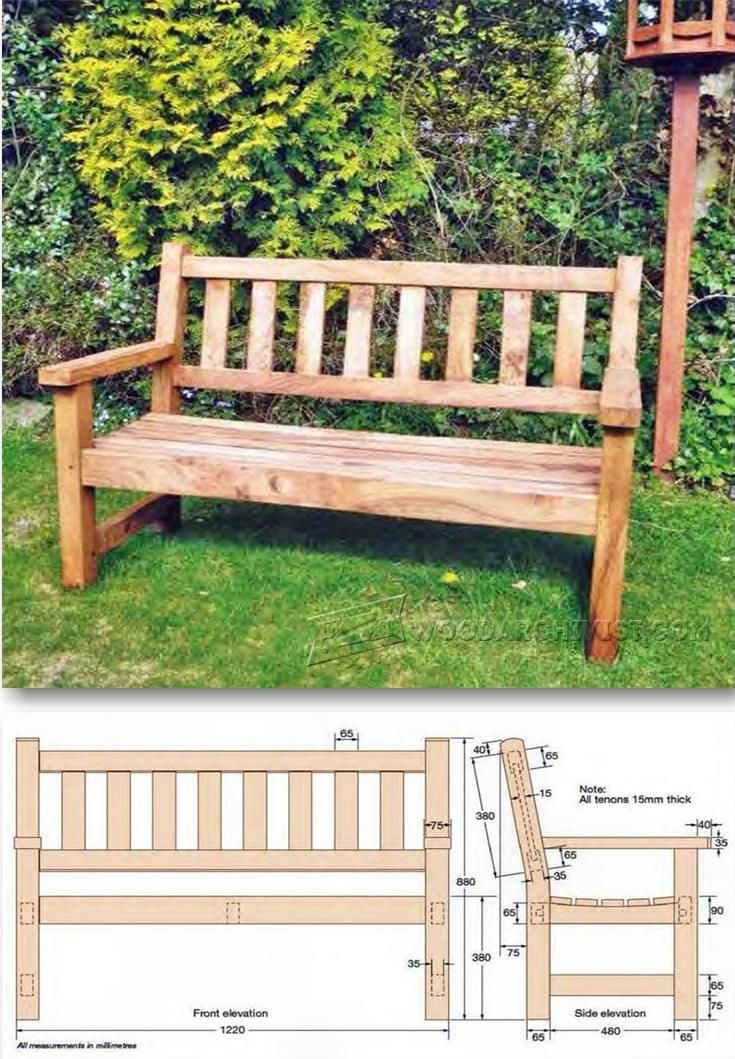 23 unique garden bench plans woodworking for Blueprint builder free