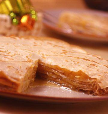 Gâteau de crêpes à l'ananas - Recettes de cuisine Ôdélices