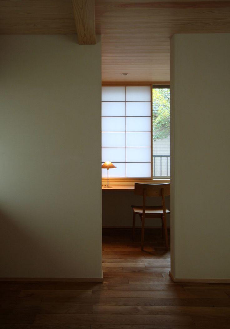 japanese residence, shouji, 書斎, 障子