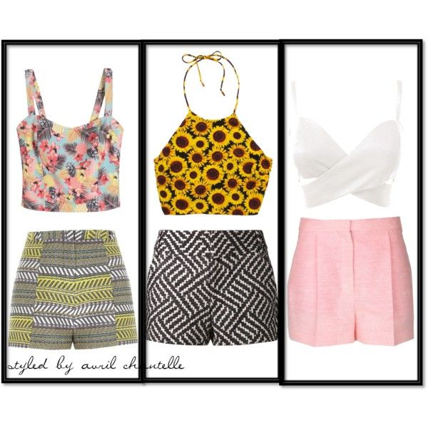 """""""HighShorts and Crops"""" by avrilchantelle on Polyvore"""